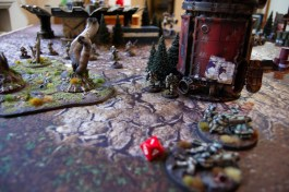 During his turn 2, Fredrik moves the heavy weapon teams from the safety of the woods in order to respond to the new threat of the Crisis battlesuits.