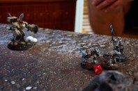 After yet another deadly assault phase Jacob loses his second Broadside to the Grey Knight strike team! In a final stand, Jacob starts his fourth turn by opening fire into the Terminators but fails to inflict any damage....