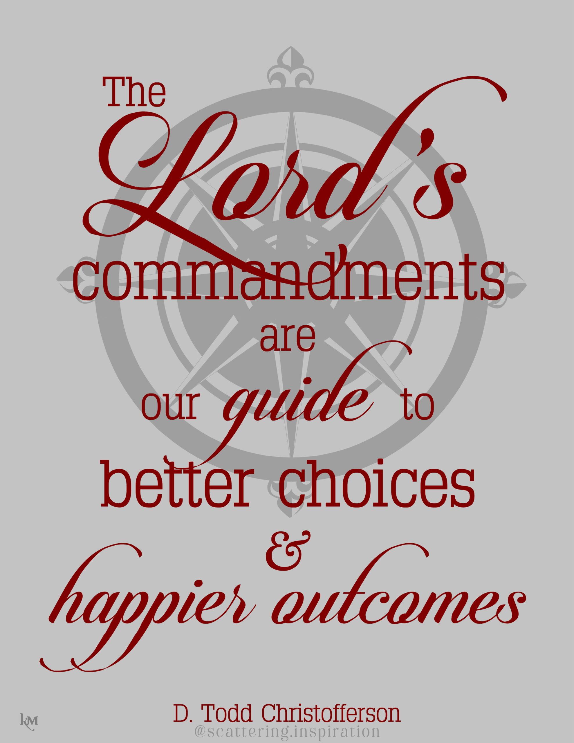commandments are guide