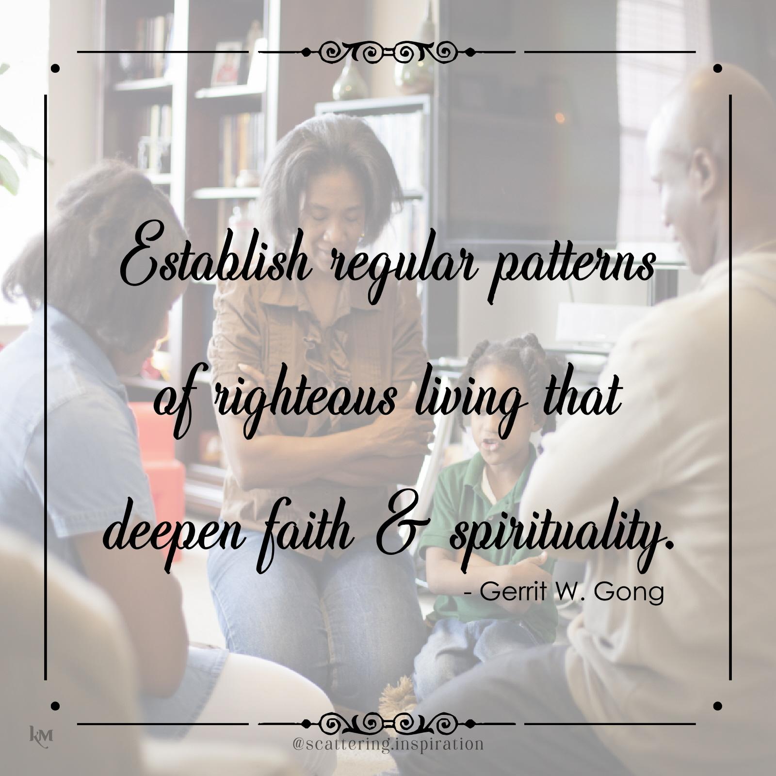 establish regular patterns
