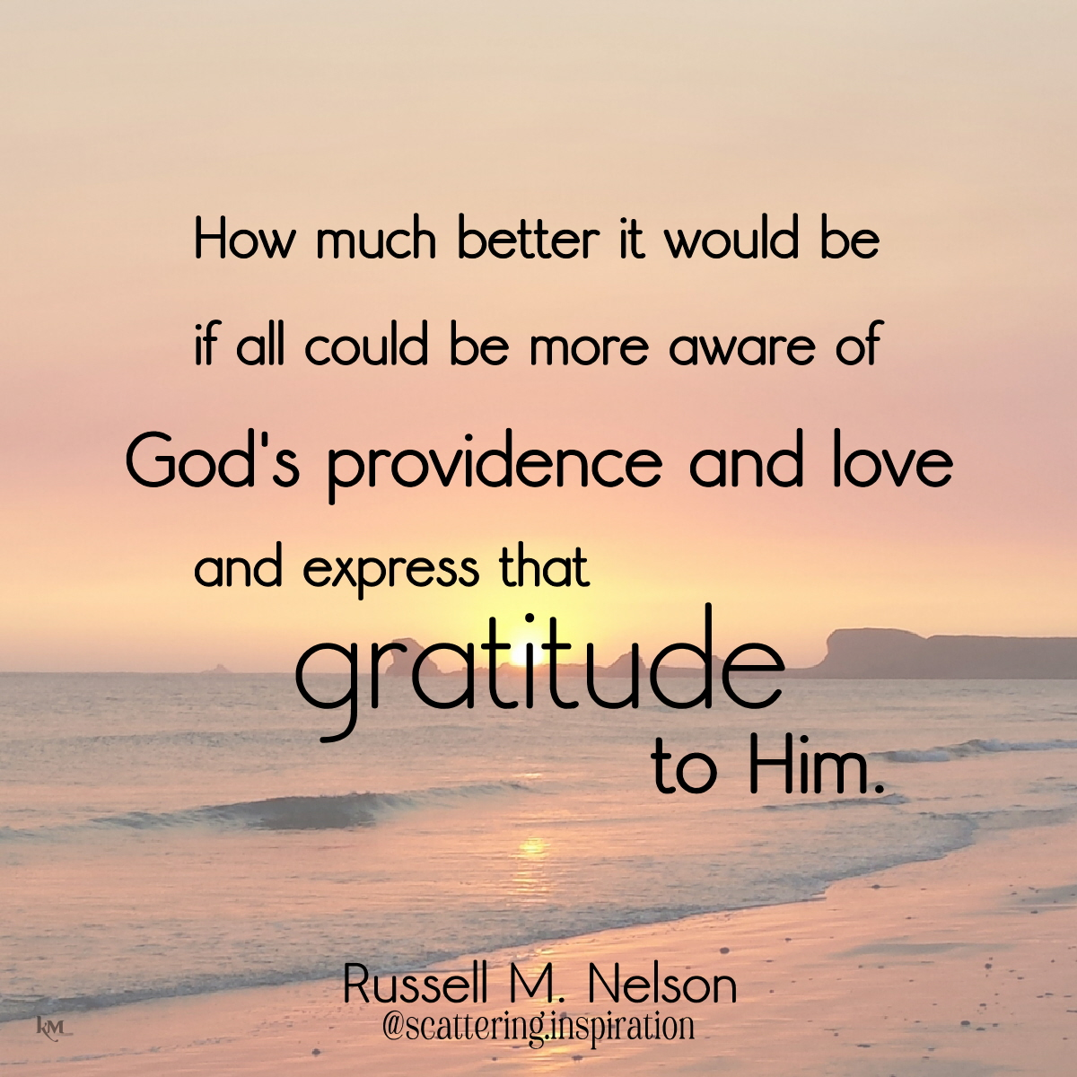 express gratitude to Him