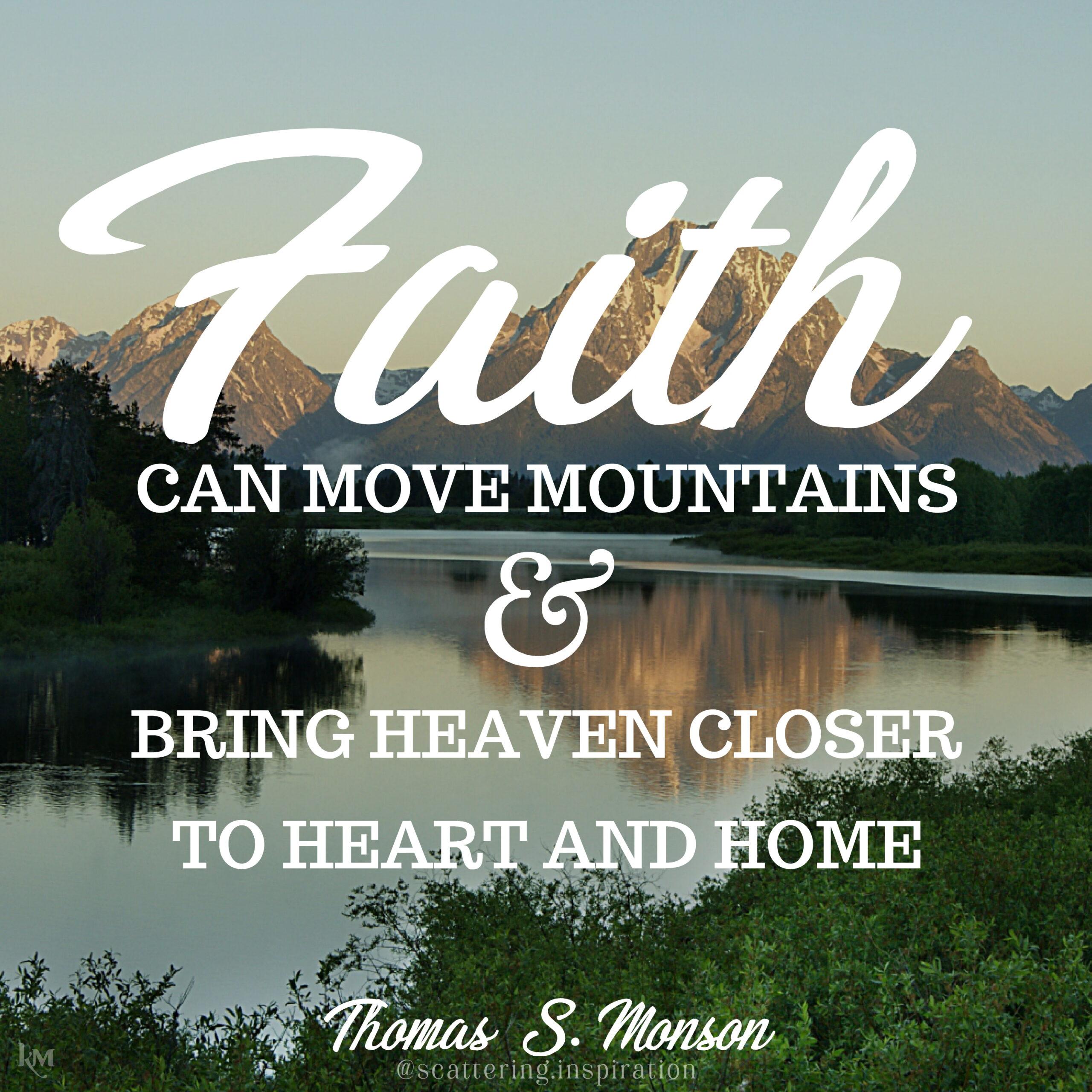 faith can