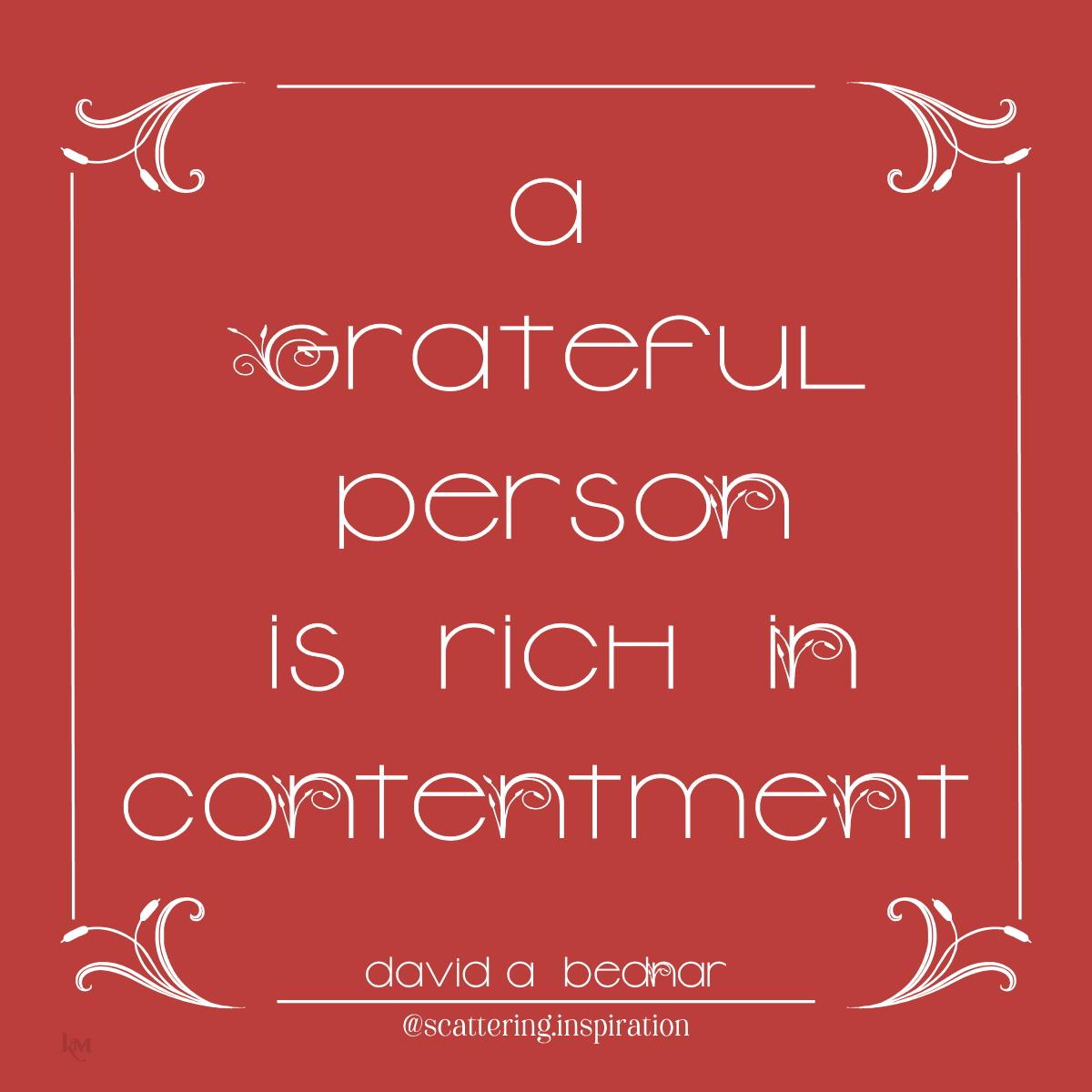 grateful contentment