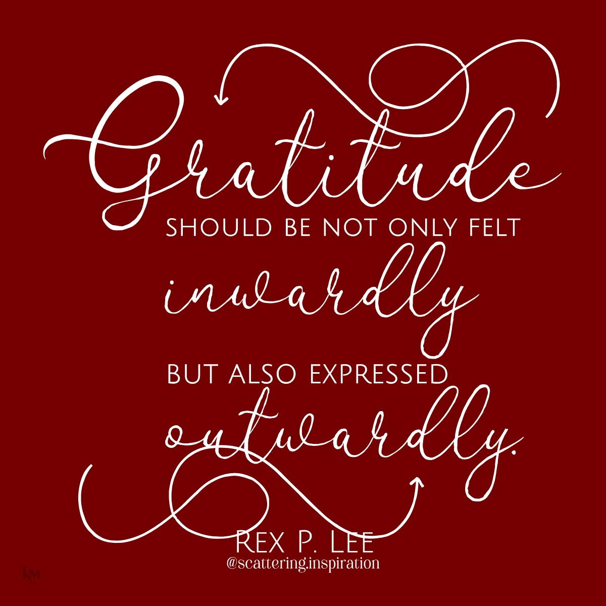 gratitude inwardly outwardly