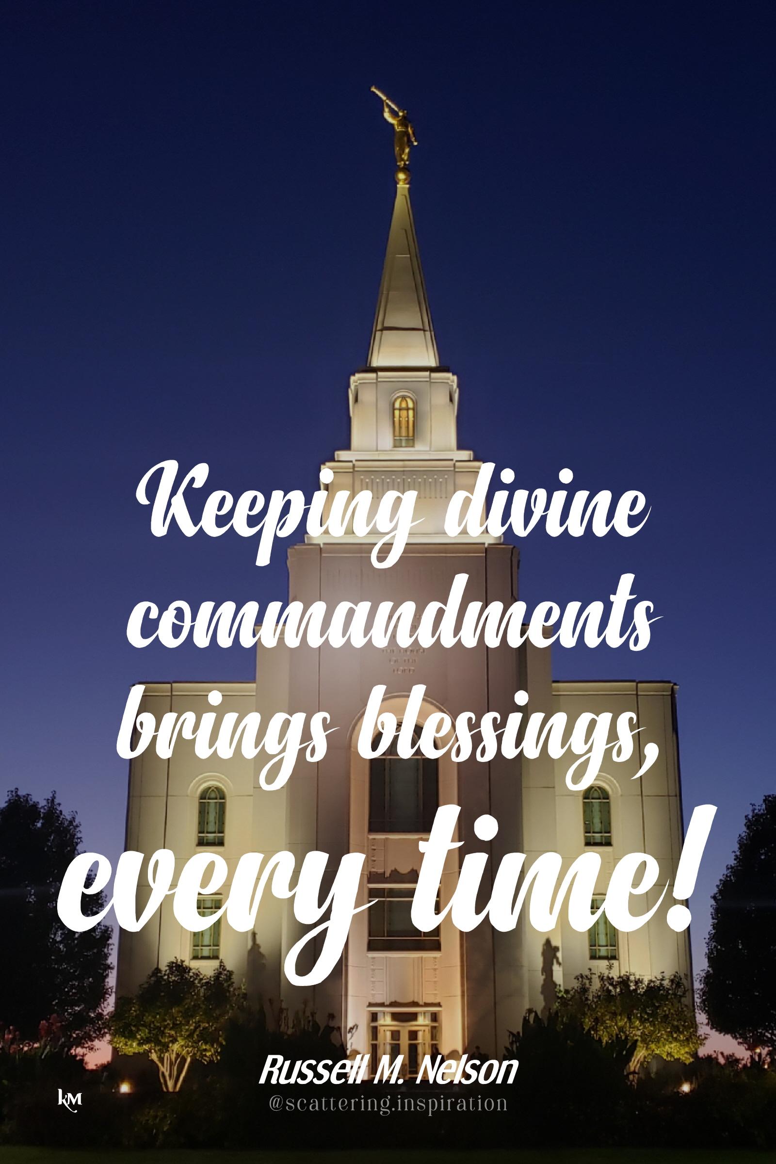 keeping divine commandments