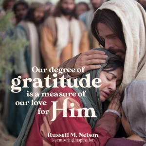 our degree of gratitude