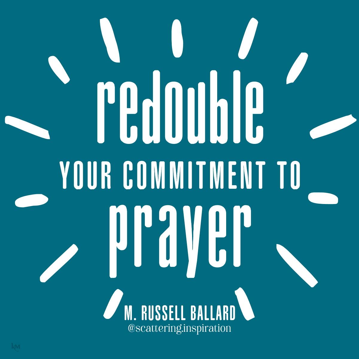 redouble commitment