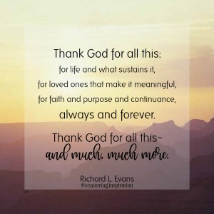 thank God for all this