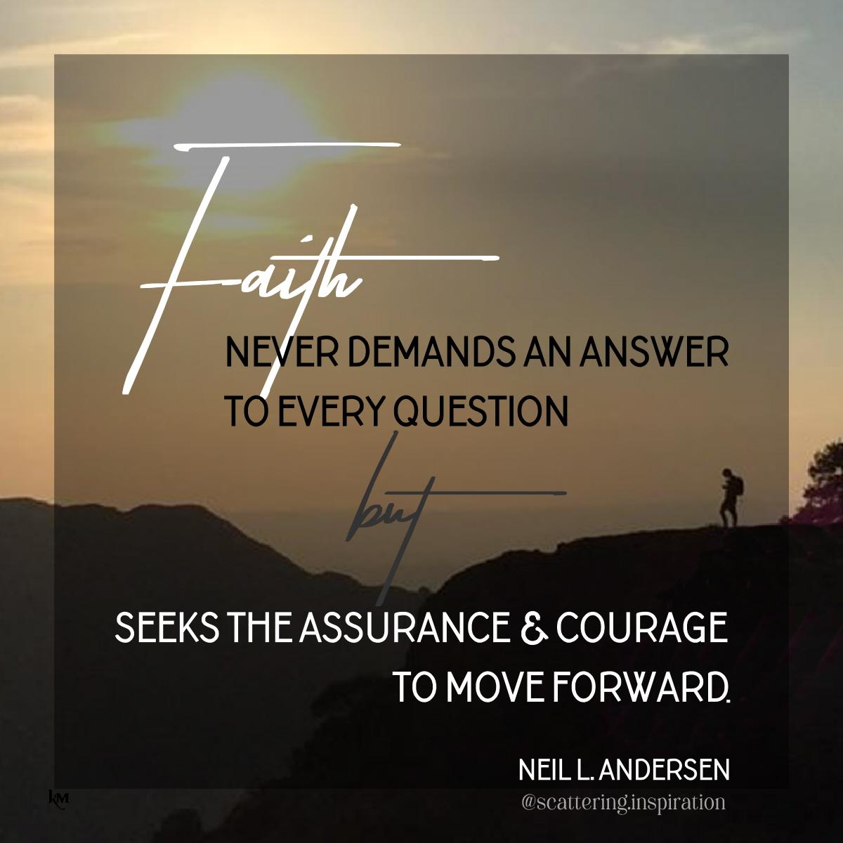 faith never demands