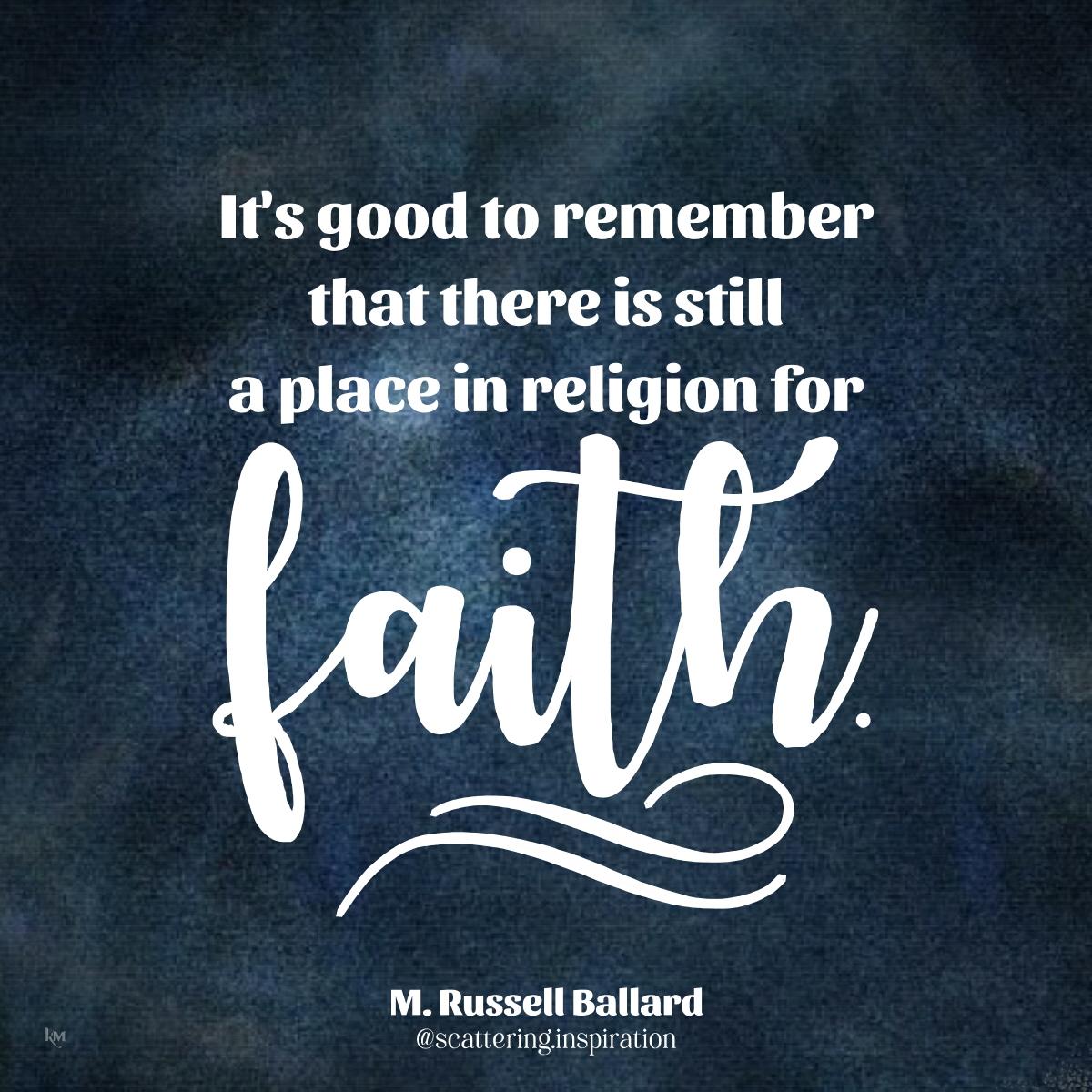 still a place for faith