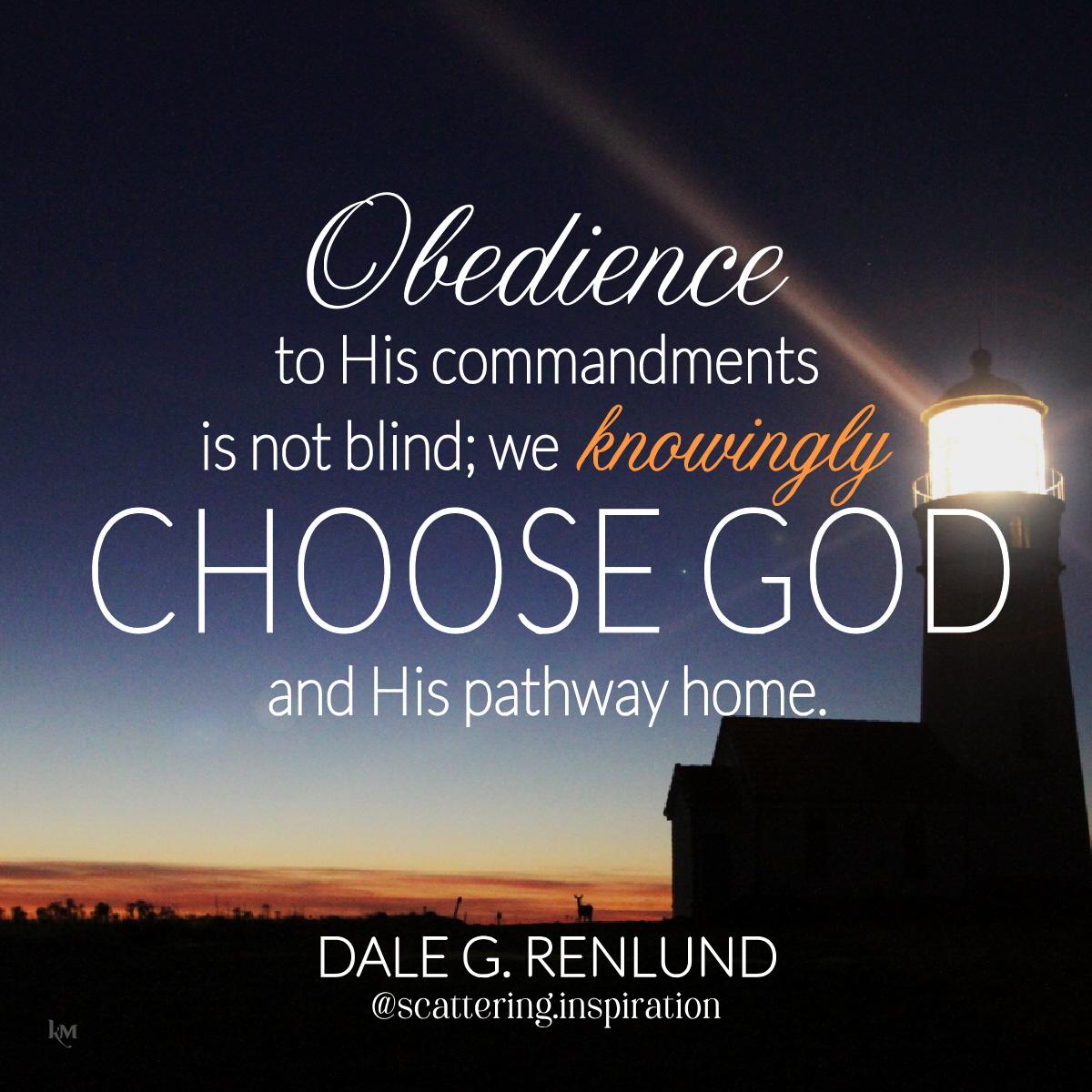 we knowingly choose God