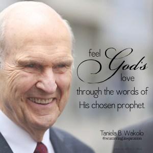 feel Gods love through prophet