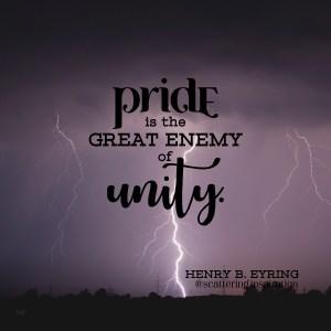 pride enemy of unity