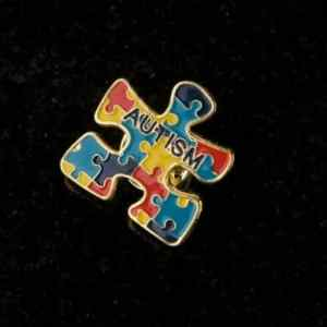 Awareness Puzzle Lapel Pin