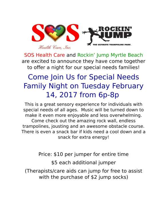 Feb 14 Rockin Jump Special Needs