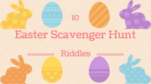 Scavenger Hunt Easter Egg Indoor Riddles