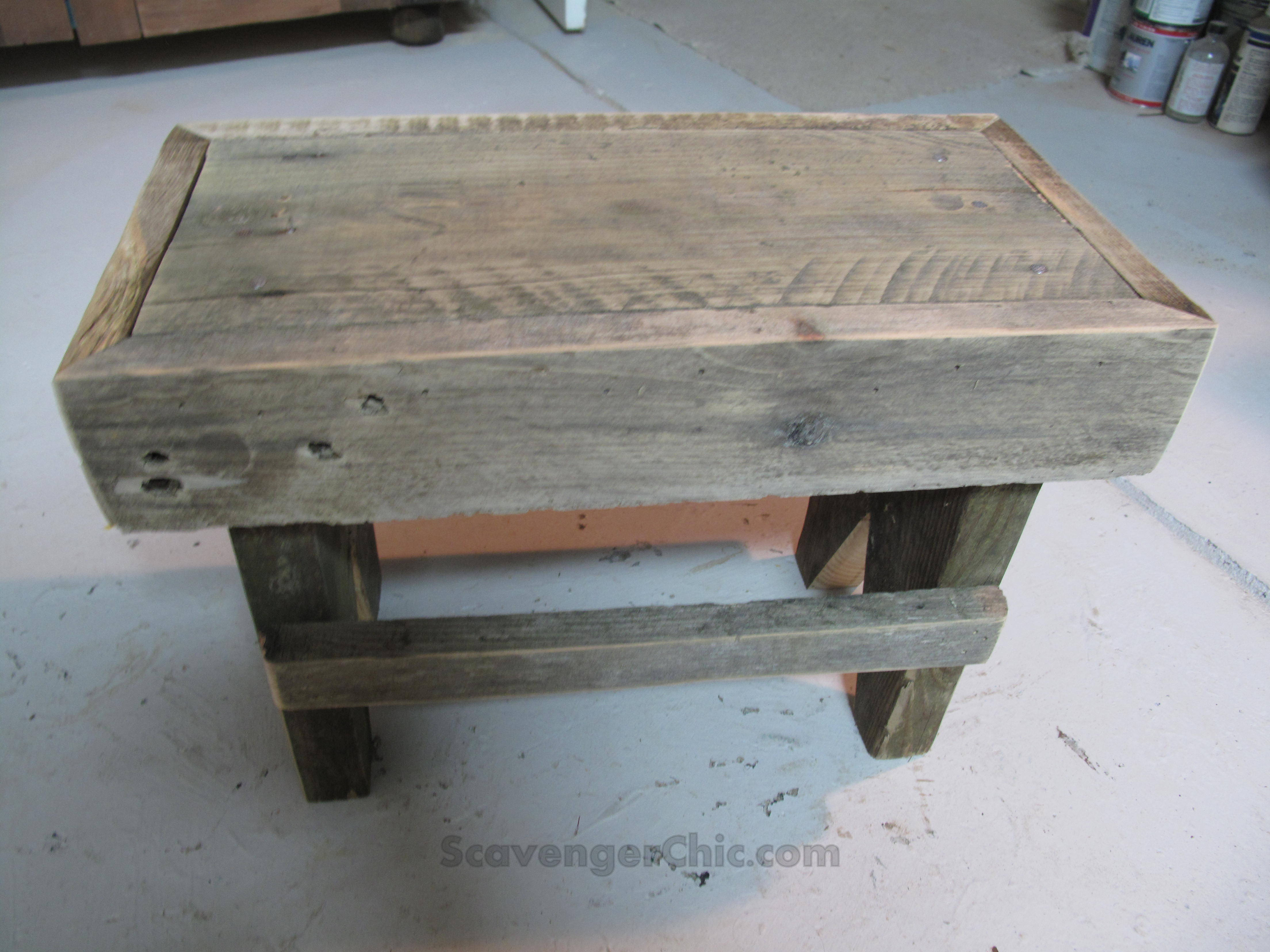 Easy Rustic Step Stool Diy Scavenger Chic