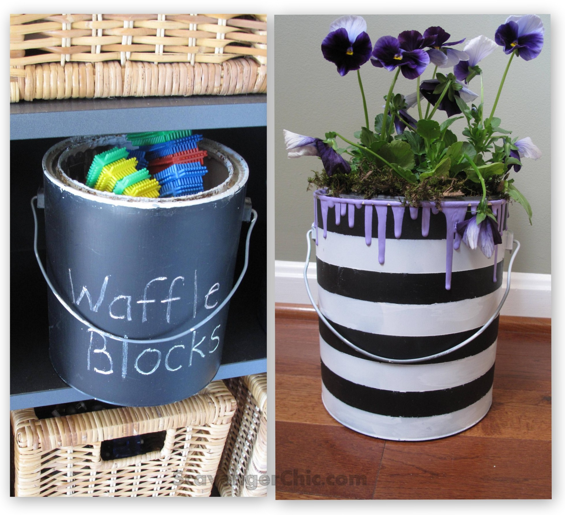 2 Ways To Recycle Your Old Paint Cans Scavenger Chic