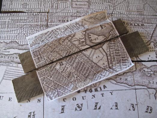 Pottery Barn Inspired New York Tiled Map Diy Scavenger Chic