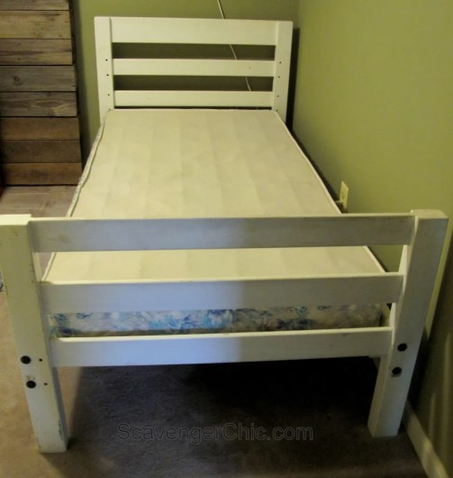 This End Up Loft Bed Gets A Makeover Scavenger Chic