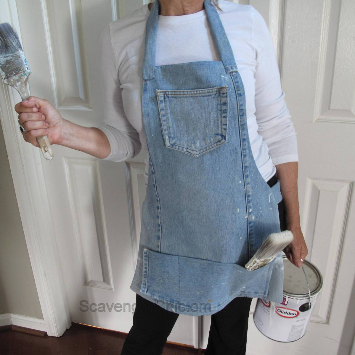 Recycled Blue Jean Apron Scavenger Chic