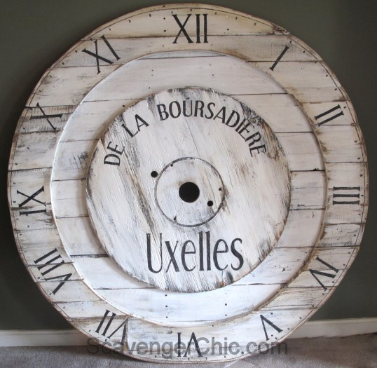 Big Huge Pottery Barn Inspired Wall Clock Scavenger Chic