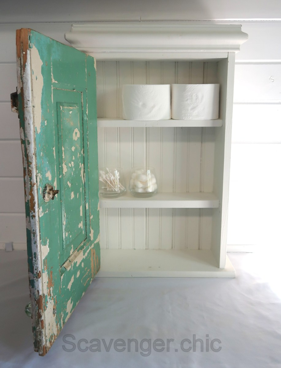 Upcycled Chippy Cabinet Door Scavenger Chic