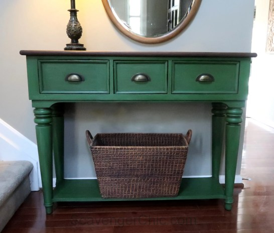 Green Chalk Paint Entry Table Scavenger Chic