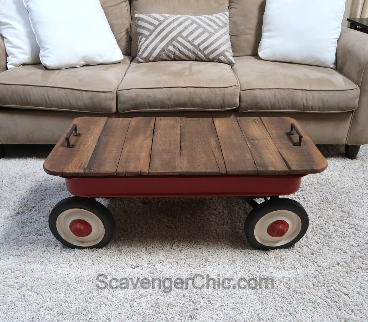 Little Red Wagon Coffee Table Scavenger Chic