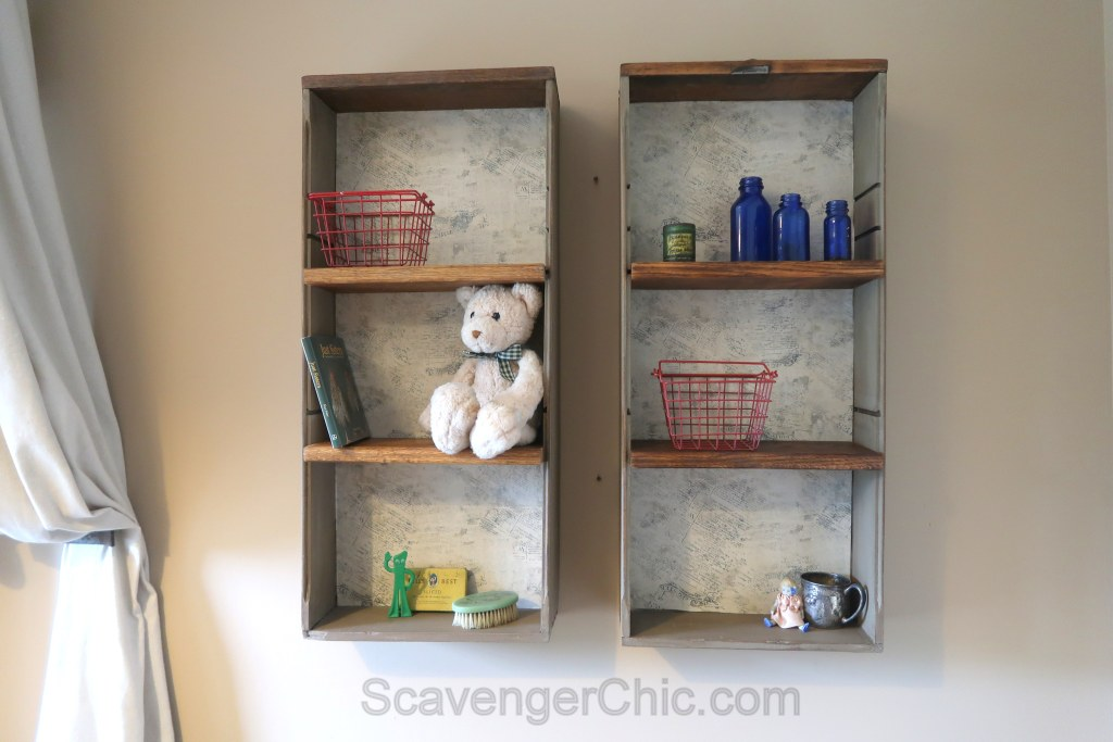 Flea Market Find, Drawer Shelf DIY - Scavenger Chic