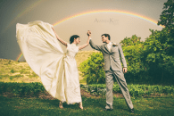 The best day of my life, complete with my love and a double rainbow. Captured by the very talented Amanda Marie Kopp (http://www.amandakopp.com)