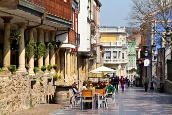 Aviles, Asturias, Spain, Galiana Street.