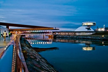 Oscar Niemeyer International Cultural Center, Aviles, Asturias, Spain