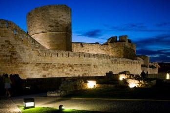 Castillo de Zamora de noche