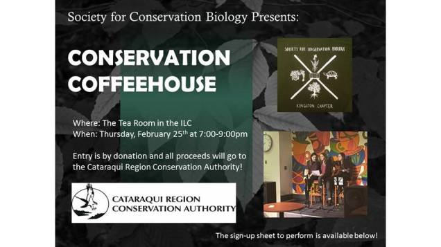Conservation Coffeehouse, supporting the Cataraqui Region Conservation Authority