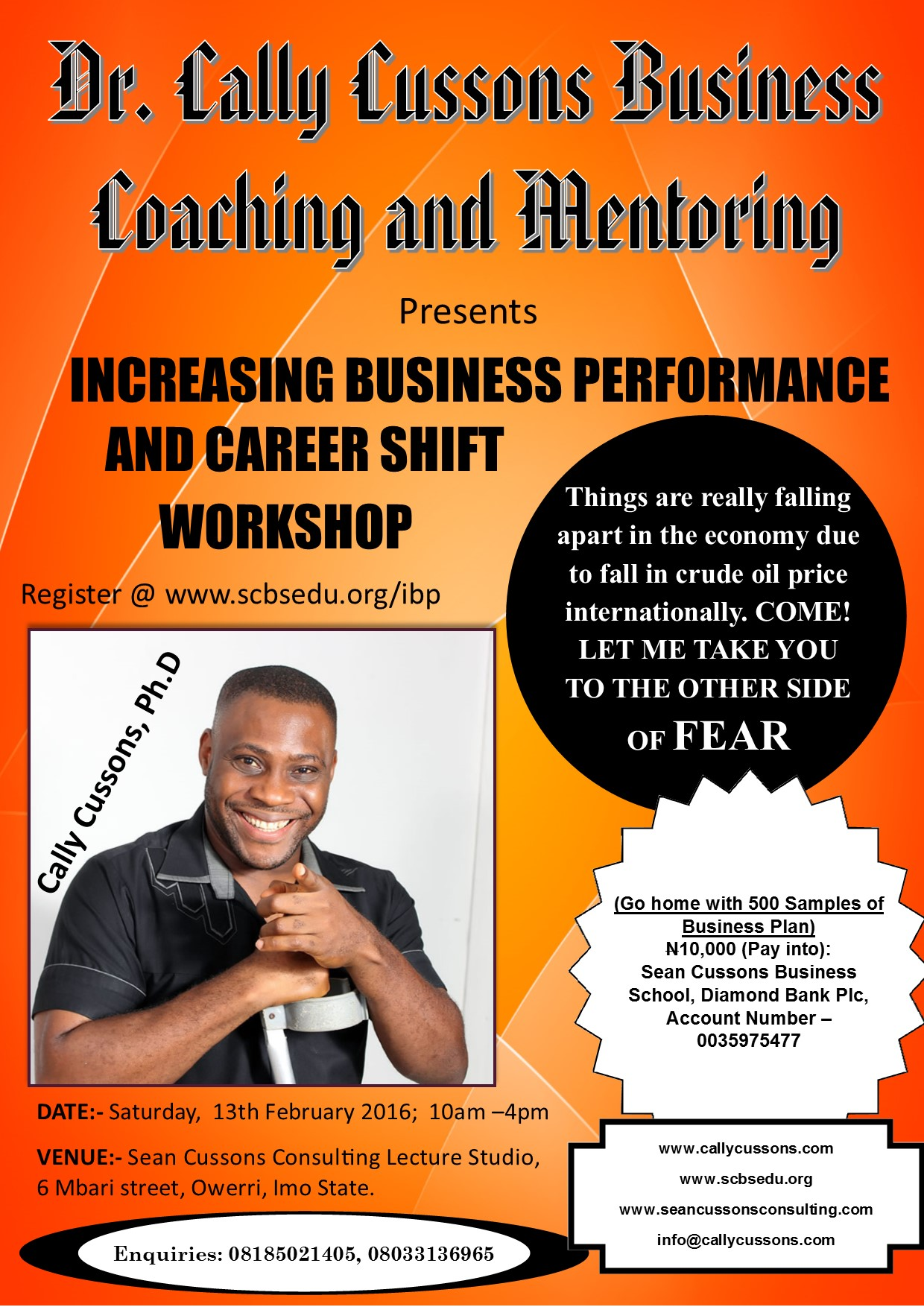 INCREASING BUSINESS PERFORMANCE AND CAREER SHIFT WORKSHOP