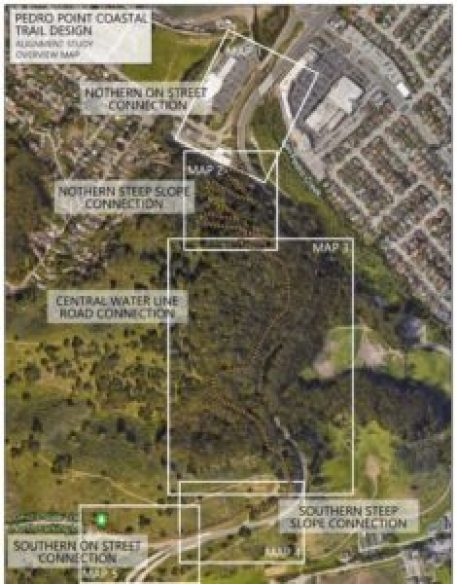 Map of segments of trail