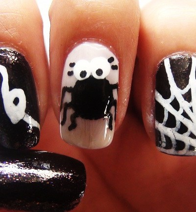 Halloween Nails – The Itsy Bitsy Spider