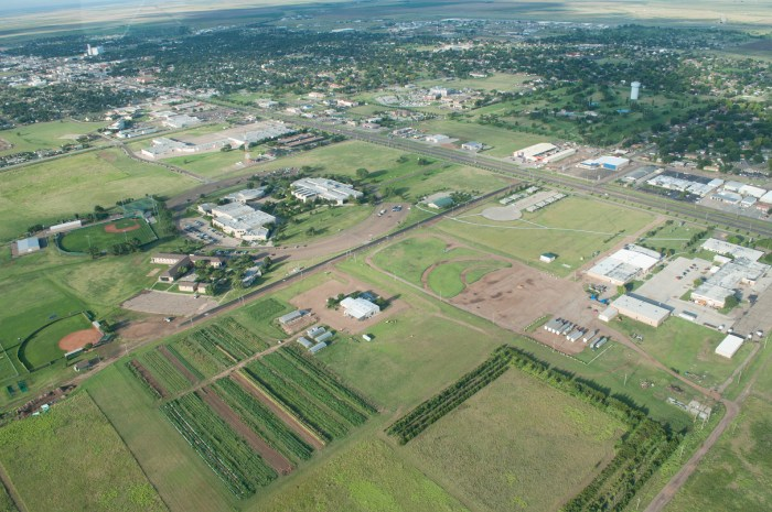Campus and Community aerial view SM
