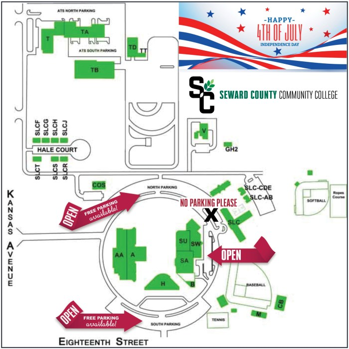 July Fourth Parking Map
