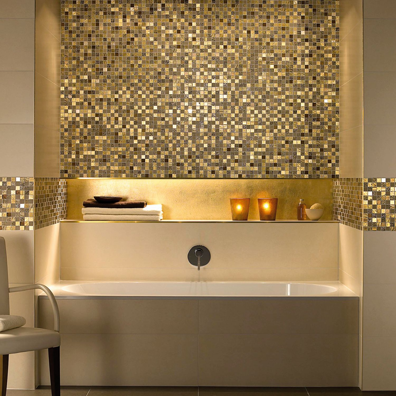 Gold Mosaic Bathroom Accessories