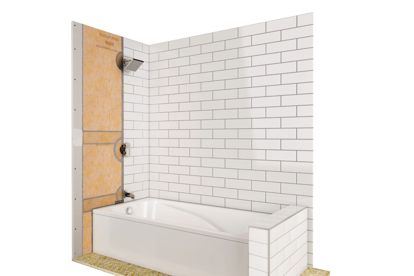 schluter kerdi tubkit shower tub