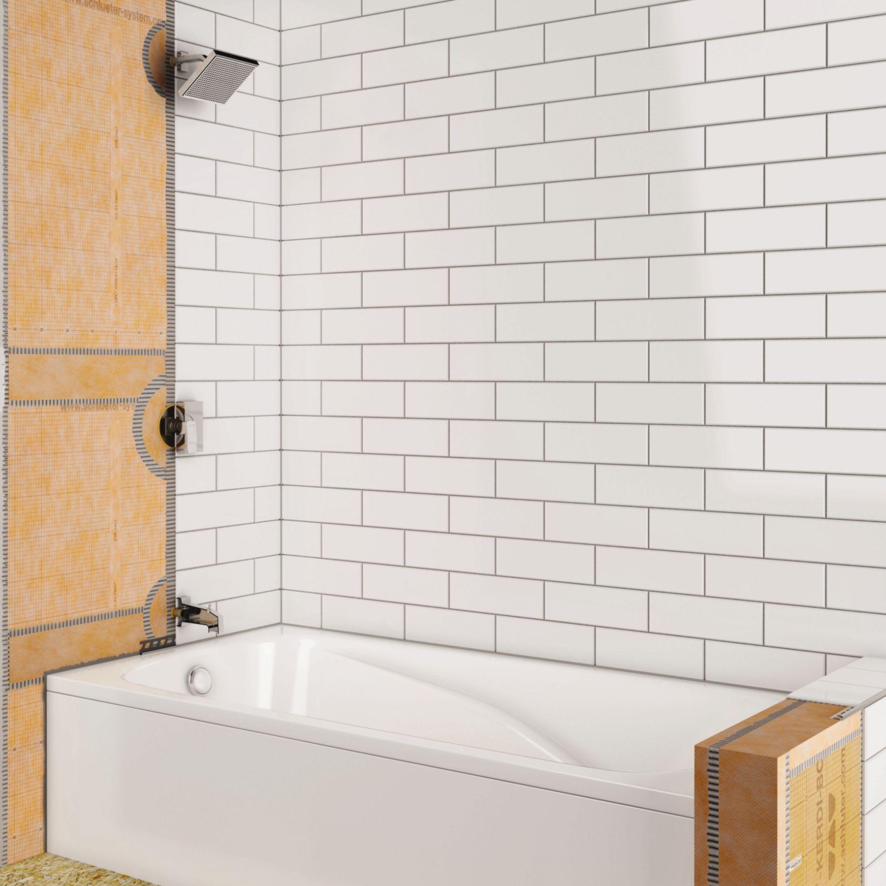 shower with bathtub schluter ca