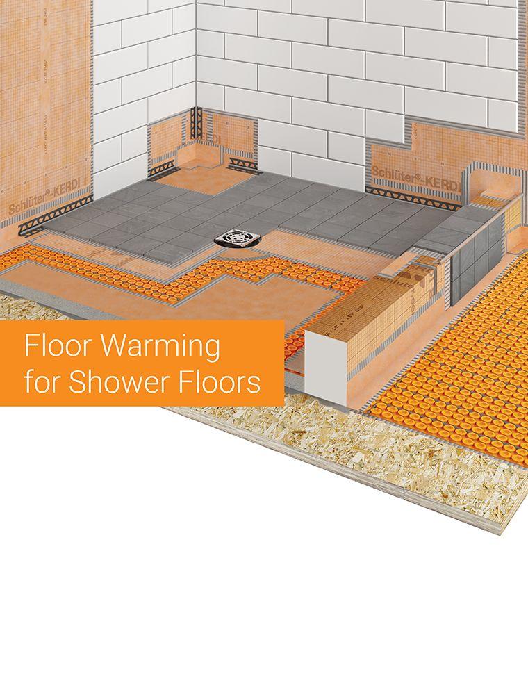 floor warming for shower floors