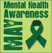 Mental Health Mental Health Month Social Media Photo with Green Ribbon