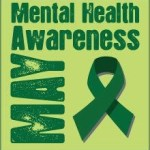 Mental Health Mental Health Month Social Media Photo with Green Ribbon