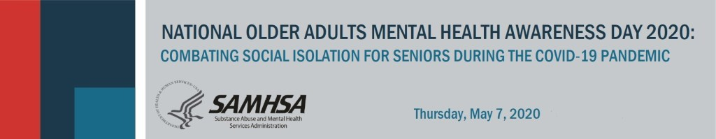 National Older Adults Mental Health Awareness Day banner