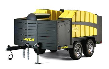 Mobile Pressure Washer Trailer for rent, Recycles water & is environmentally friendly!
