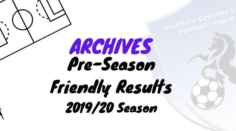 scefl pre-season friendly results 2019