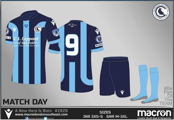 crowborough athletic macron kit scefl